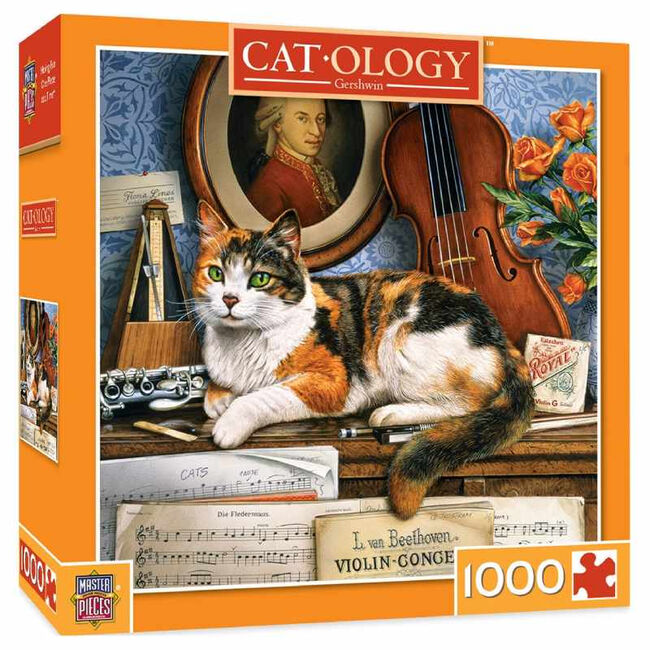 """Cat-ology 1000 Piece Puzzle - """"Gerschwin"""" image number null"""
