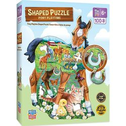 """""""Pony Playtime"""" 100 Piece Shaped Puzzle"""