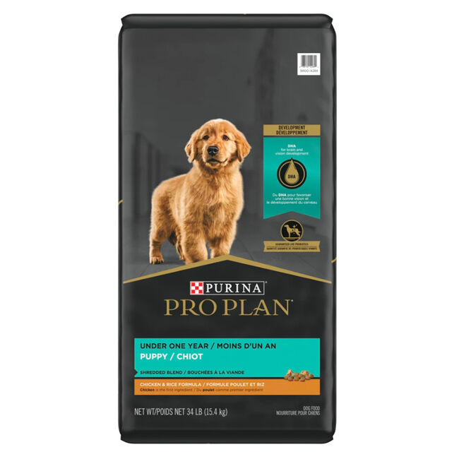 Purina Pro Plan Savor Shredded Blend Chicken & Rice Dry Puppy Food image number null