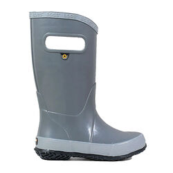 Bogs Kids Solid Slip On Rain Boot, Gray
