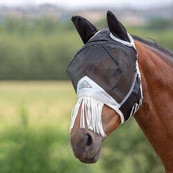 Shires Fine Mesh Fly Mask with Fringe Nose