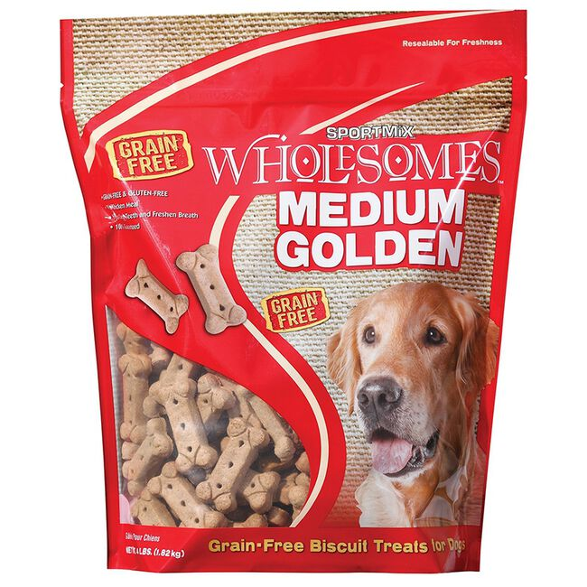 Sportmix Wholesomes Golden Dog Biscuit Treats - Medium image number null