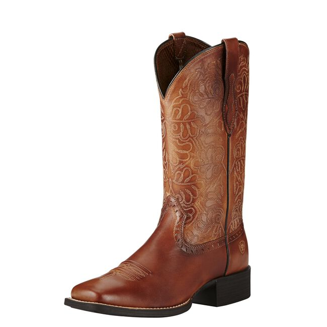 Ariat Ladies' Round Up Remuda Western Boot - Naturally Rich image number null