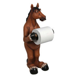 Rivers Edge Toilet Paper Holder - Horse