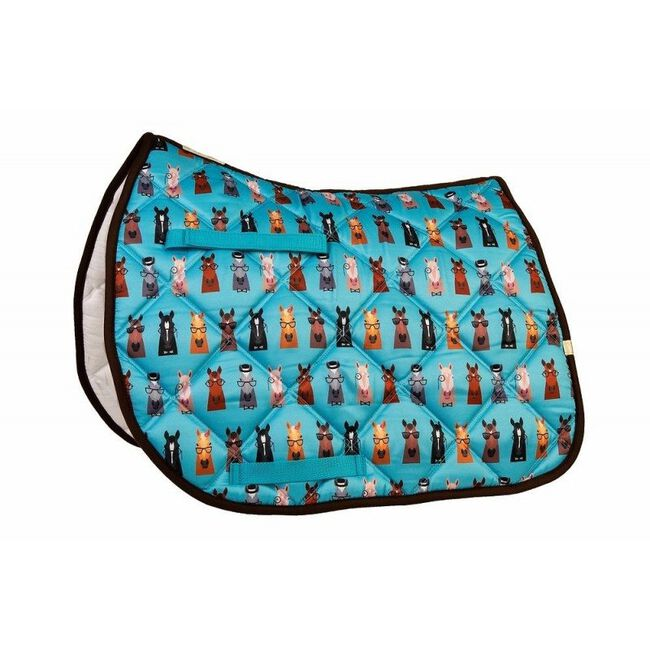 Union Hill LÉTTIA Collection Printed All Purpose Saddle Pad - Hipster Horses image number null
