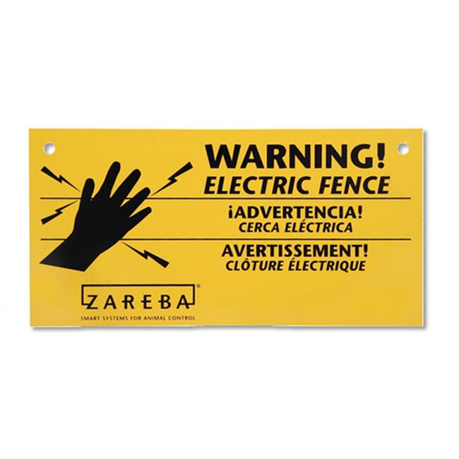 Zareba Electric Fence Warning Signs 3 Pack image number null