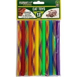Multipet Kitty Straw Toys 12 pack
