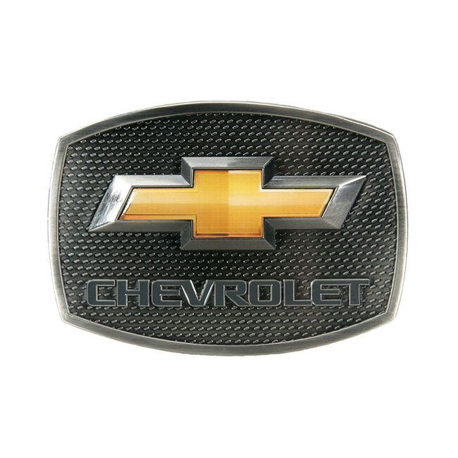 Western Express Chevy Gold Bow Tie Buckle - 3-1/2 x 2-1/2 image number null