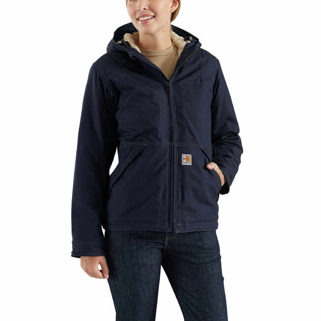 Carhartt Women's Full Swing Quick-Duck Sherpa-Lined Flame-Resistant Jacket-XS image number null
