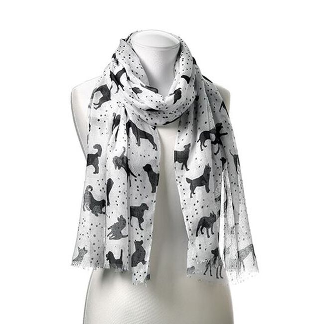 GiftCraft Furever Friends Patterned Scarf-Dog Print image number null