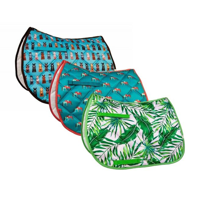 Union Hill LÉTTIA Collection Printed All Purpose Saddle Pad image number null