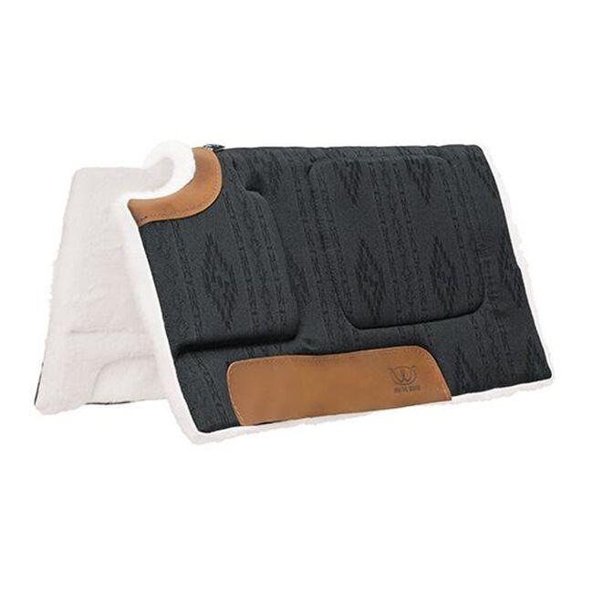 Weaver Leather All Purpose Built-Up Cut Back Saddle Pad - Black image number null