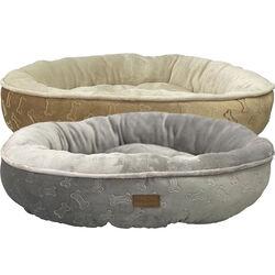 Ethical Pet Sleep Zone Embossed Bone Round Pet Bed