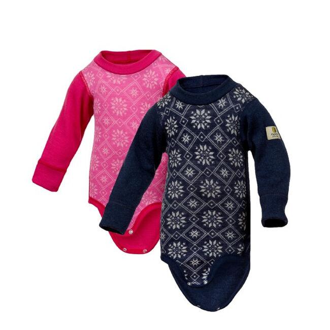Janus Baby Wool Snowflake Bodysuit image number null