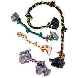 Mammoth Pet Flossy Chews - Toss, Tug, Floss Rope Dog Toys