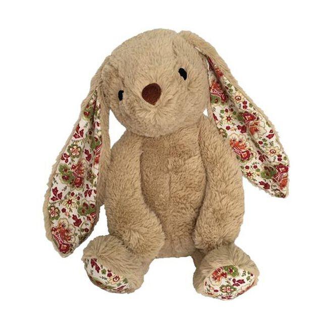Paisley Bunny Plush Dog Toy - Beige image number null