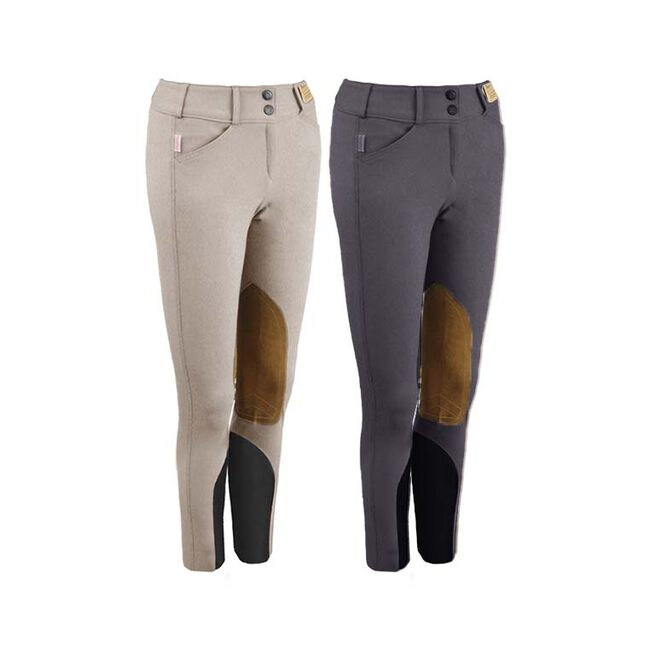 Tailored Sportsman Boot Sock Knee Patch Breeches - Purple Heart image number null