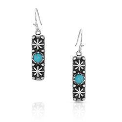 Montana Silversmiths Starlight Starbrite Stone Turquoise Silver Earrings
