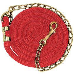 Weaver Poly Lead Rope With Brass Plated Chain