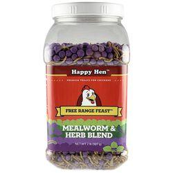 Happy Hen Free Range Feast Mealworm & Herb Chicken Treat Blend