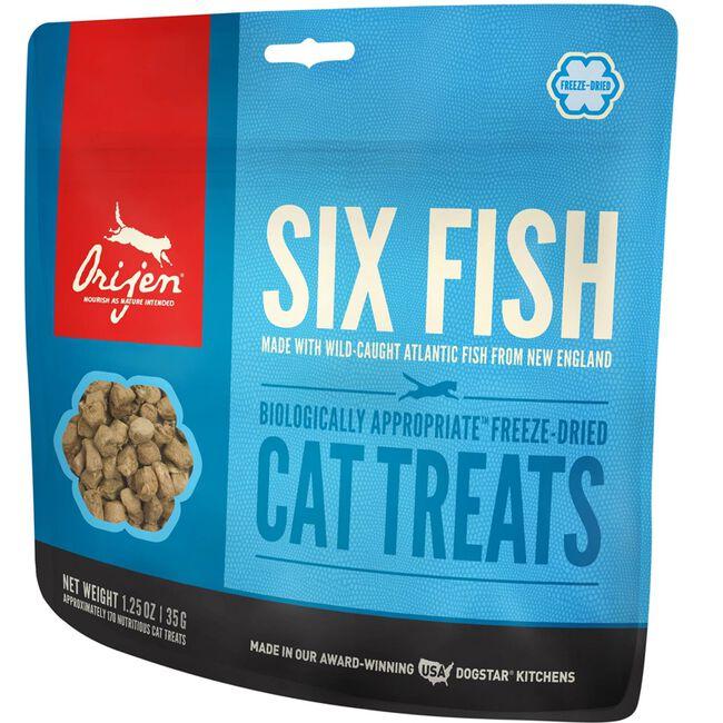 ORIJEN Six Fish Freeze Dried Cat Treats -1.25 oz image number null