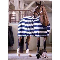 Horseware Rambo Newmarket Fleece Sheet Navy Witney Stripe Closeouts