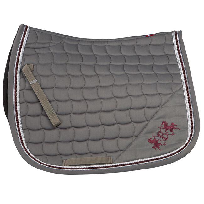 B Vertigo Lexington Dressage Saddle Pad - Steeple Grey/Burgundy Red image number null