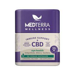 MedTerra CBD Wellness Immune Support + CBD Eye Health Capsules