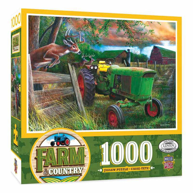 """Farm & Country 1000 Piece Jigsaw Puzzle - """"Deer Crossing"""" image number null"""