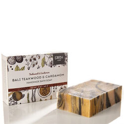 Earth Luxe Bail Teakwood & Cardamom Nearly Natural Soap