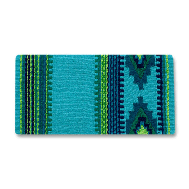 Mayatex Firecracker Saddle Blanket - Ocean Blue image number null