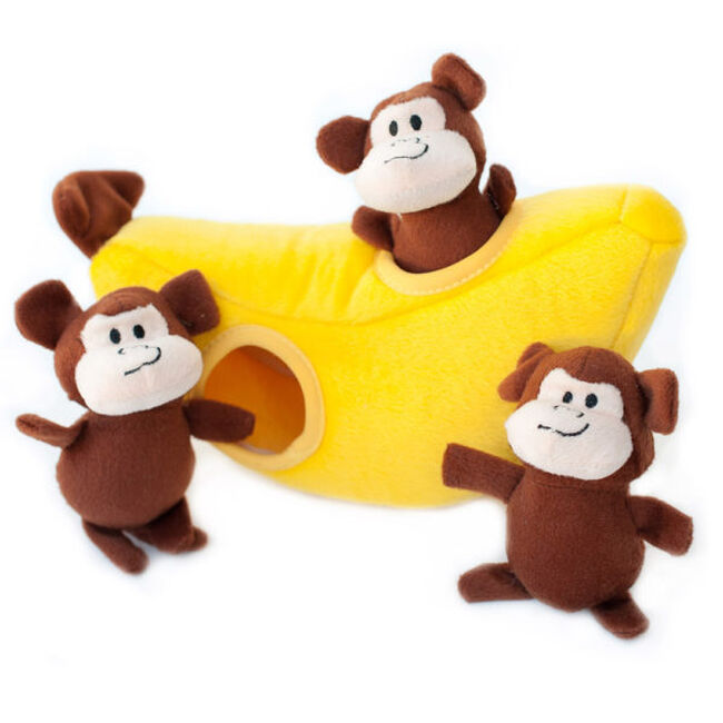 ZippyPaws Monkey 'n Banana Zippy Burrow image number null