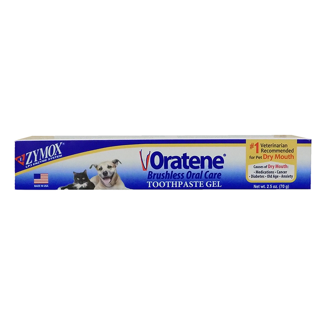 Zymox Oratene Brushless Toothpaste Gel for Cats & Dogs image number null