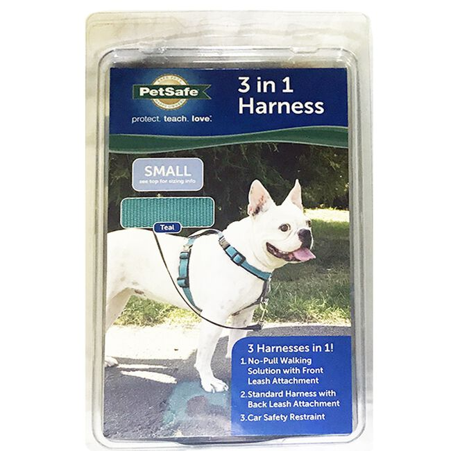 PetSafe 3 in 1 Dog Harness Teal image number null