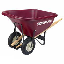 Scenic Road Dual-Wheel Eight-Cubic-Foot Wheelbarrow