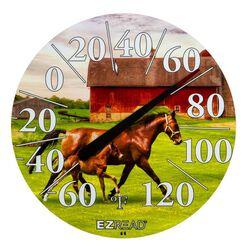 EZRead Indoor/Outdoor Horse & Foal 12.5 inch Thermometer