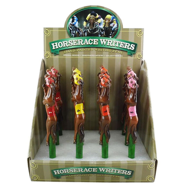 Resin Race Horse Pens Assorted image number null