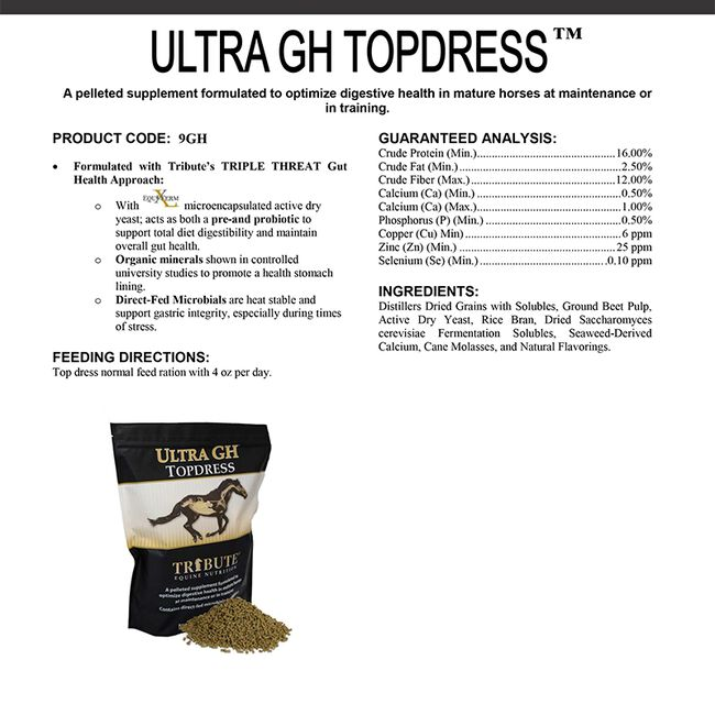Tribute Ultra GH Topdress Label image number null