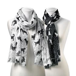 GiftCraft Furever Friends Patterned Scarf