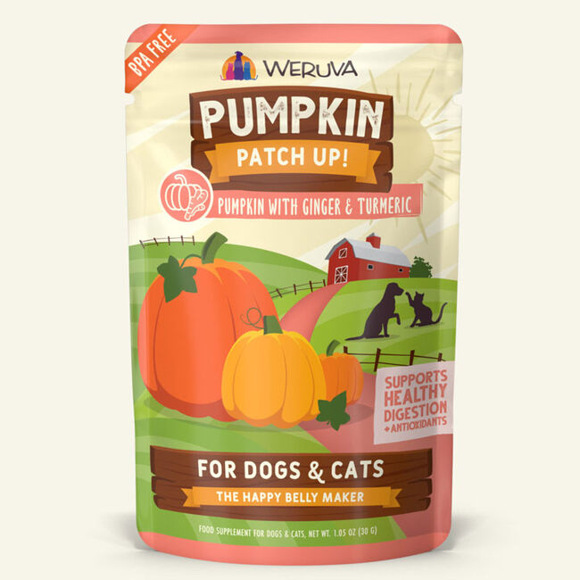 Weruva Pumpkin Patch Up Pumpkin w/ Ginger & Tumeric Supplement for Cats & Dogs - 1.05oz image number null