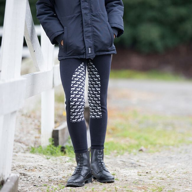 Horze Active Kids Silicone Horse Grip Tights image number null