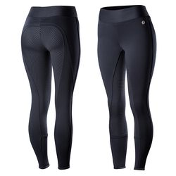 Horze Ladies' Active Fleece-Lined Silicone Full-Seat Tights