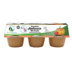 Green Coast Unsweetened Applesauce with Pumpkin for Dogs 6 Pack