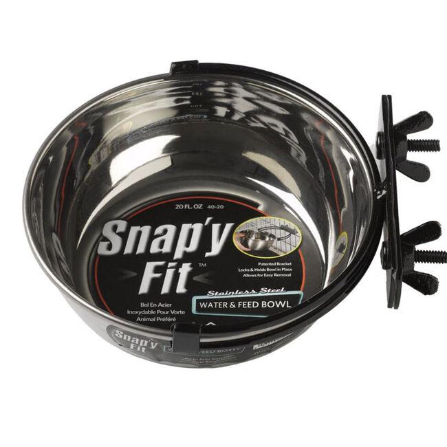 Midwest Snap'y Fit Water & Food Bowl - 20 oz image number null