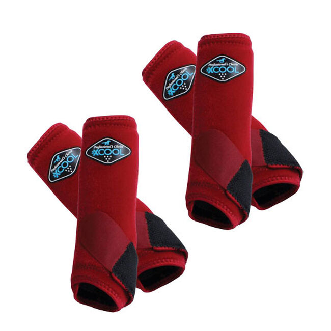Professional's Choice 2XCool Sports Medicine Boots Value 4 Pack - Crimson image number null