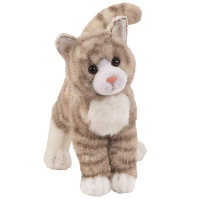 Douglas Zipper Gray Tabby Cat Plush Toy image number null