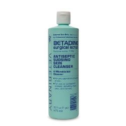 Betadine Surgical Scrub Veterinary (povidone-iodine, 7.5%) 16 oz