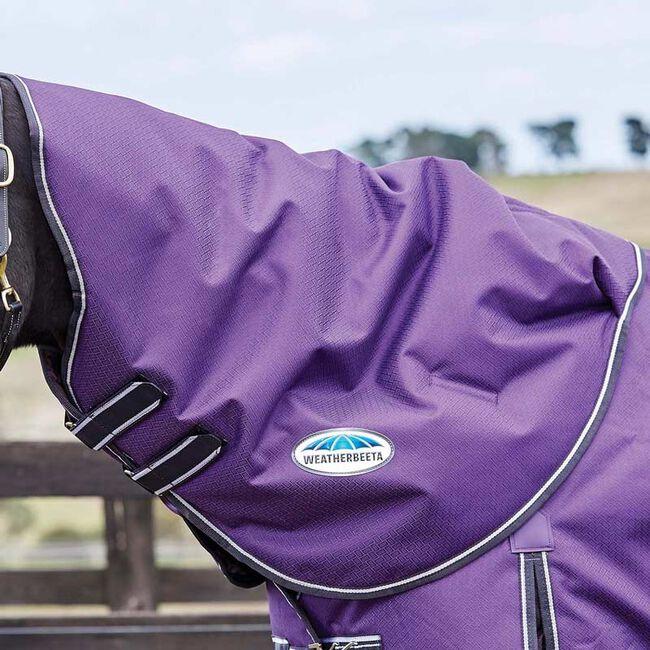 WeatherBeeta ComFiTec Plus Dynamic Neck Rug Medium Weight-Purple/Black-Cob image number null