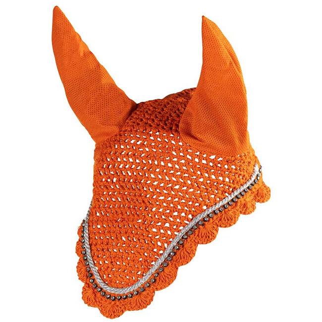 Horze Caesar Ear Net-Orange Pepper image number null