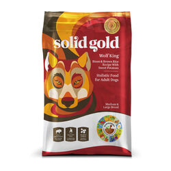Solid Gold Wolf King with Bison for Dogs 24 lb